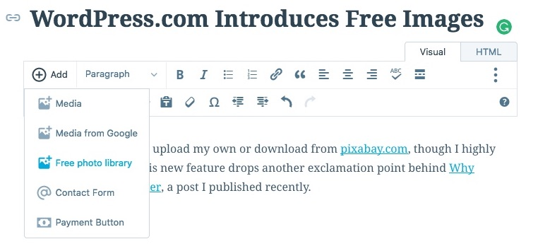 How to Add Free Images on WordPress